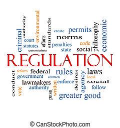 règlement, mot, nuage, concept