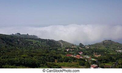 règlement, sur, île, tenerife, nuages, vol, localisé, niveau