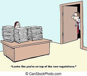 règlements, beaucoup