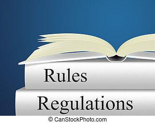 règlements, règles, représente, protocole, direction, et,...