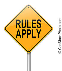 règles, apply.