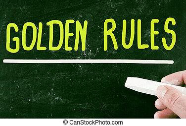 règles, doré