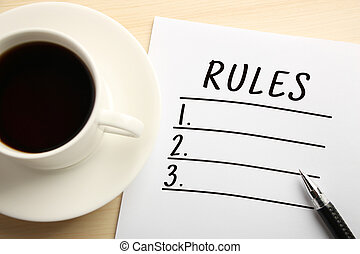 règles, liste