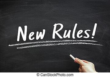 règles, nouveau