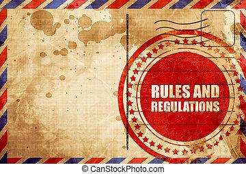 règles, règlements