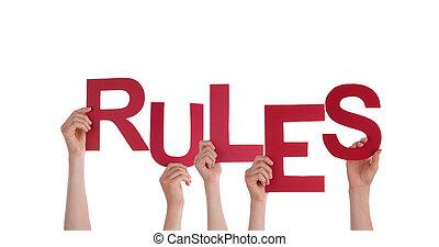 règles, tenue, gens