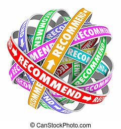 réaction, business, recommander, produits, endosser, connecté, boucle