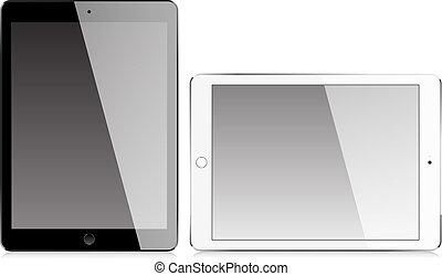 réaliste, écran, tablette, vide