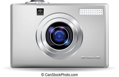 réaliste, appareil-photo numérique