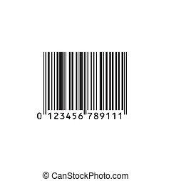 réaliste, barcode, isolé, arrière-plan., vecteur, blanc