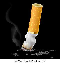 réaliste, bout cigarette
