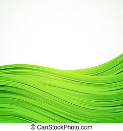 réaliste, cadre, fond, vert, herbes