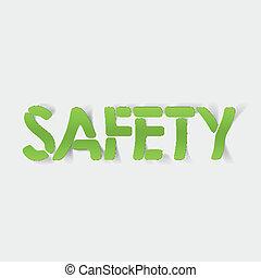réaliste, conception, element:, sécurité
