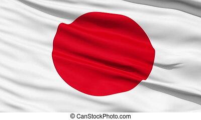 réaliste, drapeau, vent, japon