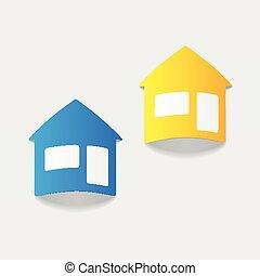 réaliste, element:, conception, maison