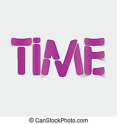 réaliste, element:, conception, temps