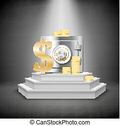 réaliste, financier, gabarit, argent