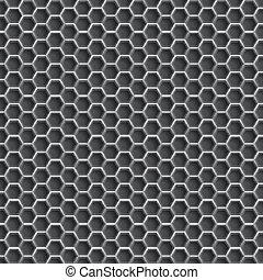 réaliste, grille, hexagonal, backgroun