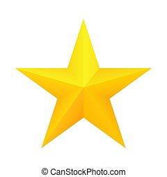 réaliste, icon., étoile, doré