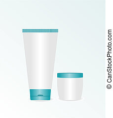 réaliste, illustration, crème cosmétique