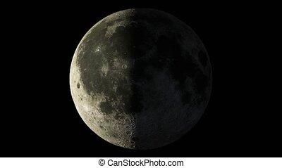 réaliste, nasa, planète, éléments, orbites, ceci, lune, ...