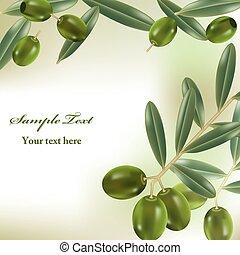 réaliste, olives, fond