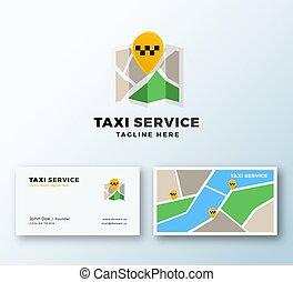réaliste, ou, service, résumé, taxi, railler, emplacement, logo, icône, carte, moderne, prime, business, template., stationnaire, épingle, symbole, typography., haut., point, carte, vecteur, app