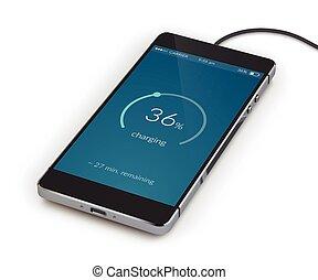 réaliste, smartphone, charger