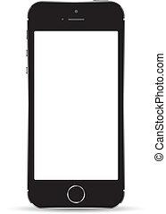 réaliste, smartphone, vecteur
