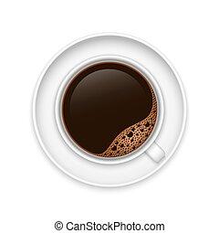 réaliste, tasse à café