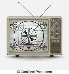 réaliste, tv., vieux, vendange