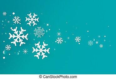 réaliste, vecteur, flocons neige