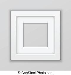 réaliste, vecteur, frame., square., image