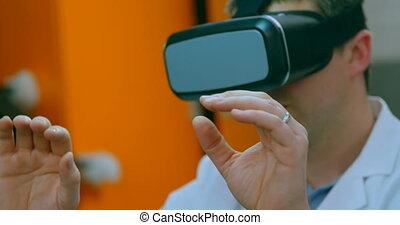 réalité, casque à écouteurs, virtuel, ingénieur, utilisation...