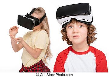 réalité, ecouteurs, amis, virtuel