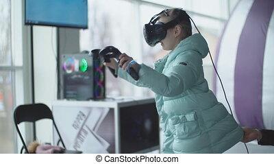 réalité virtuelle, jeux, enfant, jeux