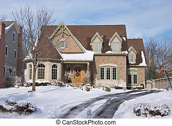 récemment, majestueux, constructed, maison