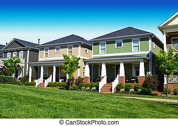 récemment, voisinage, constructed