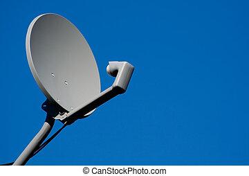 récepteur satellite, plat