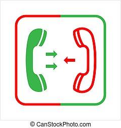récepteur, téléphone, icône