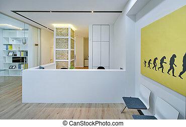 réception, dans, moderne, bureau