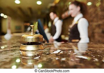 réception hôtel, cloche