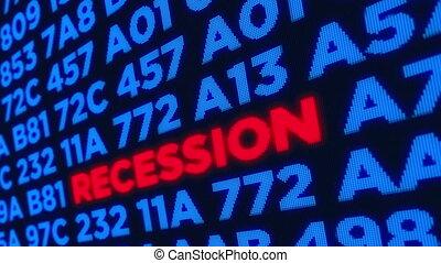 récession, concept, crise