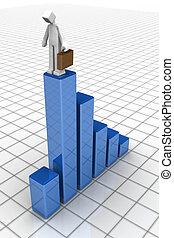 récession, financier, goutte, business, économie, concept