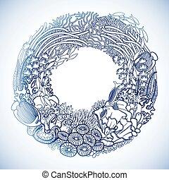 récif, corail, couronne