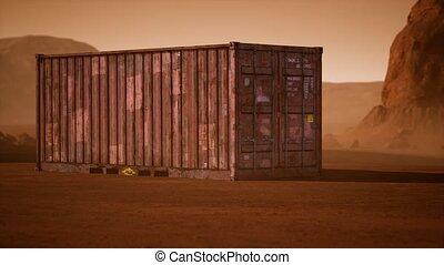 récipient, abandonnés, désert, expédition