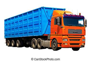 récipient, camion