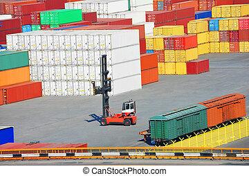récipient cargaison, port