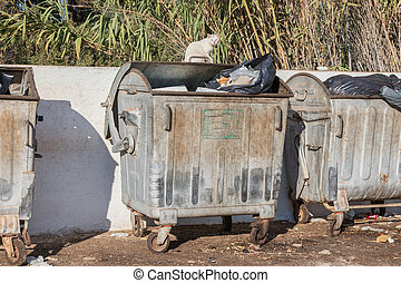 récipient, déchets, grèce
