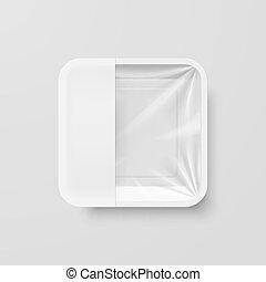 récipient nourriture, plastique